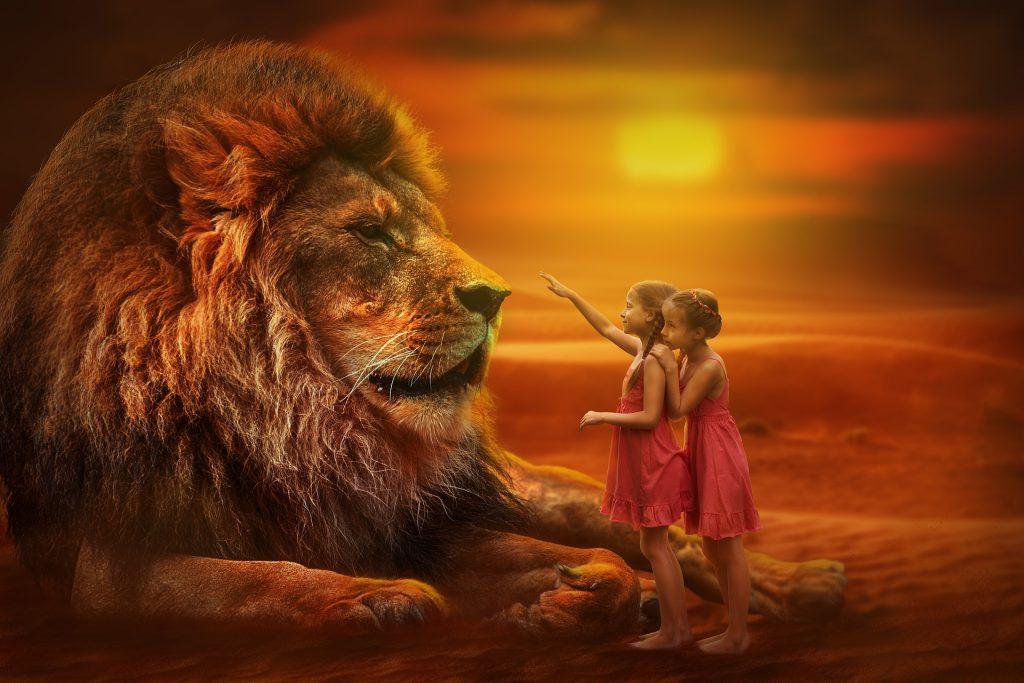 ילדות ואריה